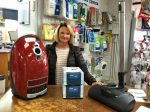 Jaquine Hay with a new Miele vacuum cleaner