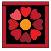 Rainbow Heart Quilt McCalls