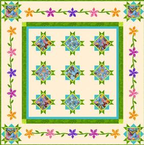 Spring Fling Quilt from Connecting Threads
