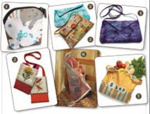 Seven Quilted Bag Patterns from Quilting Daily
