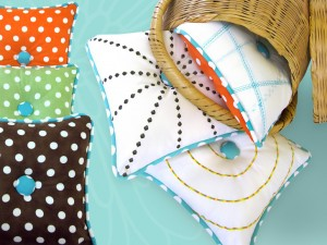 Decorative Stitch Pillows from Sew4Home
