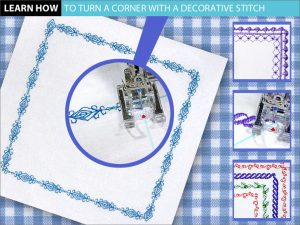 Decorative-Stitch-Turning Corners from Janome