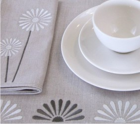 Embroidered Table Linens from Janome