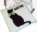 CAT'S MEOW APPLIQUED PILLOW