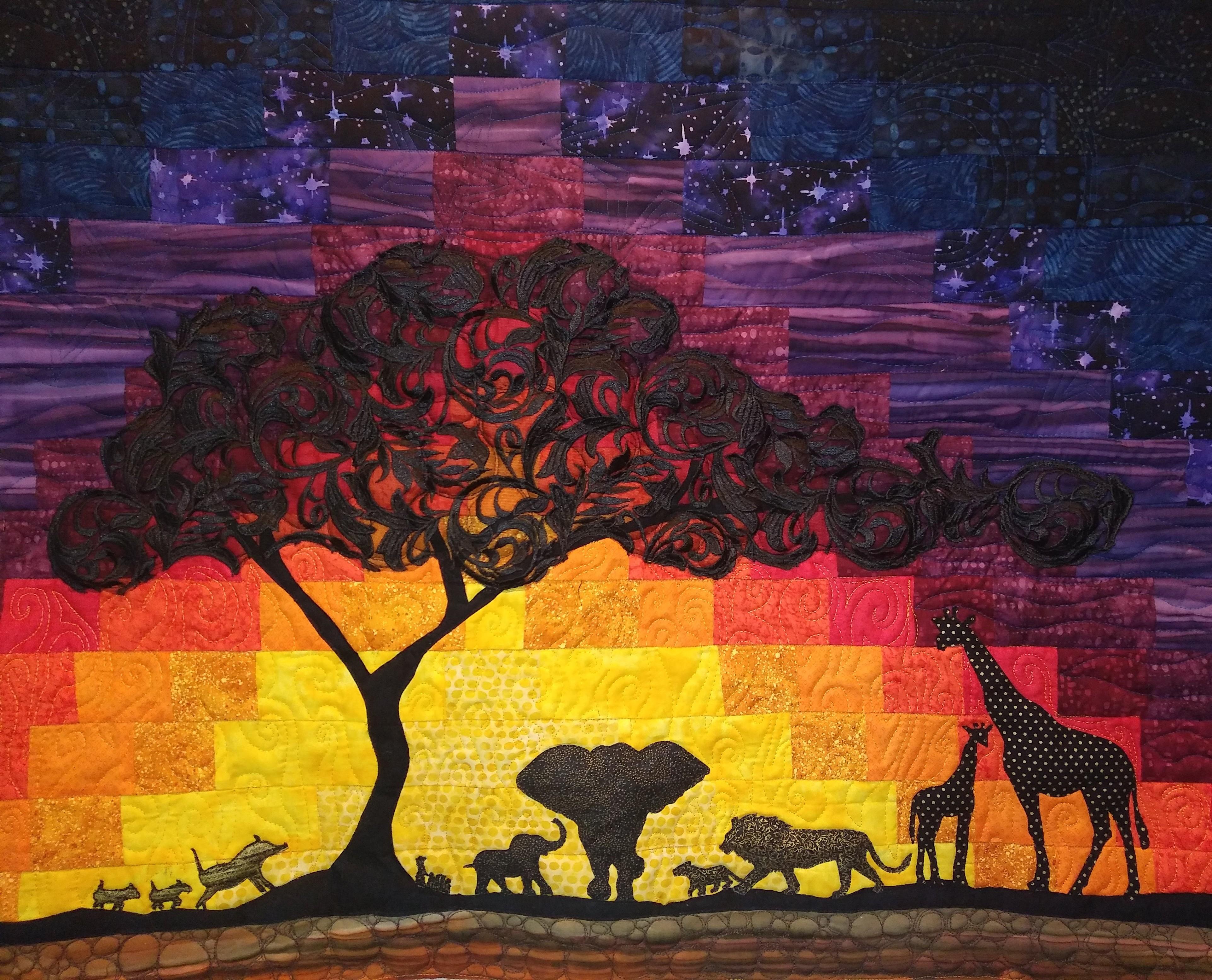 AFRICAN SUNSET QUILT